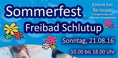 Sommerfest im Freibad Schlutup am Sonntag, den 21.08.16