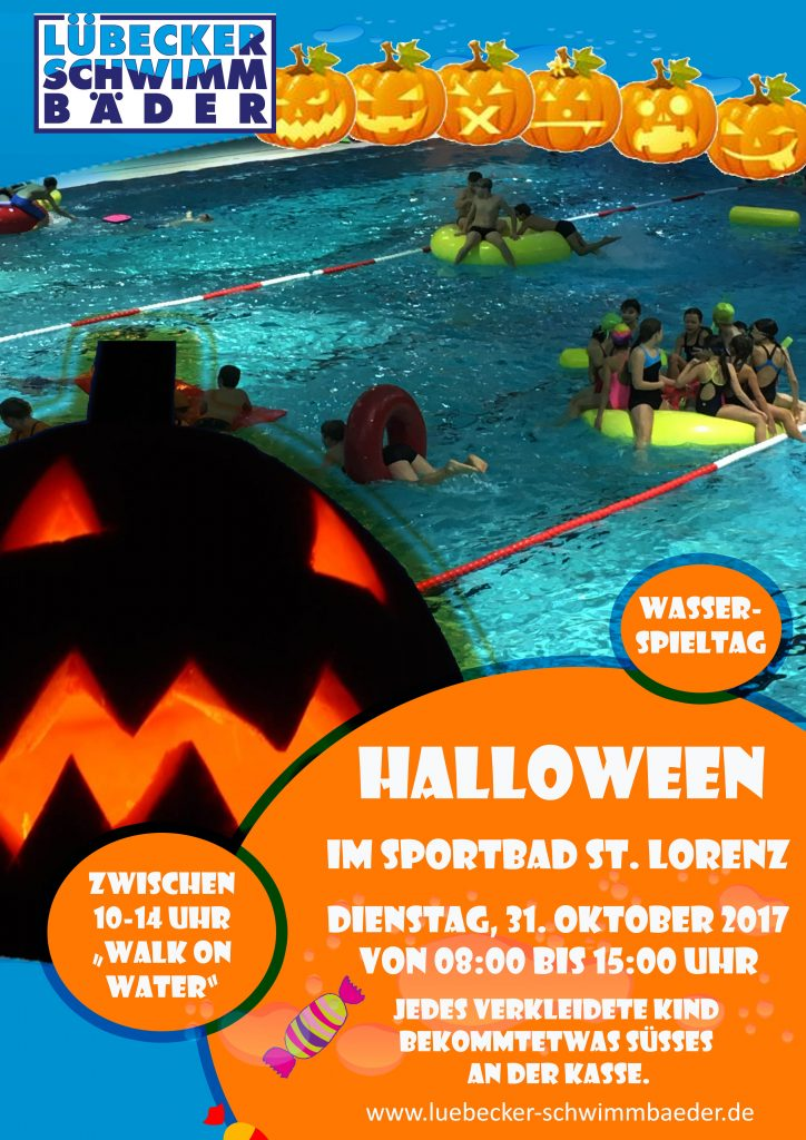 Halloween am 31.10.17 im Sportbad St. Lorenz