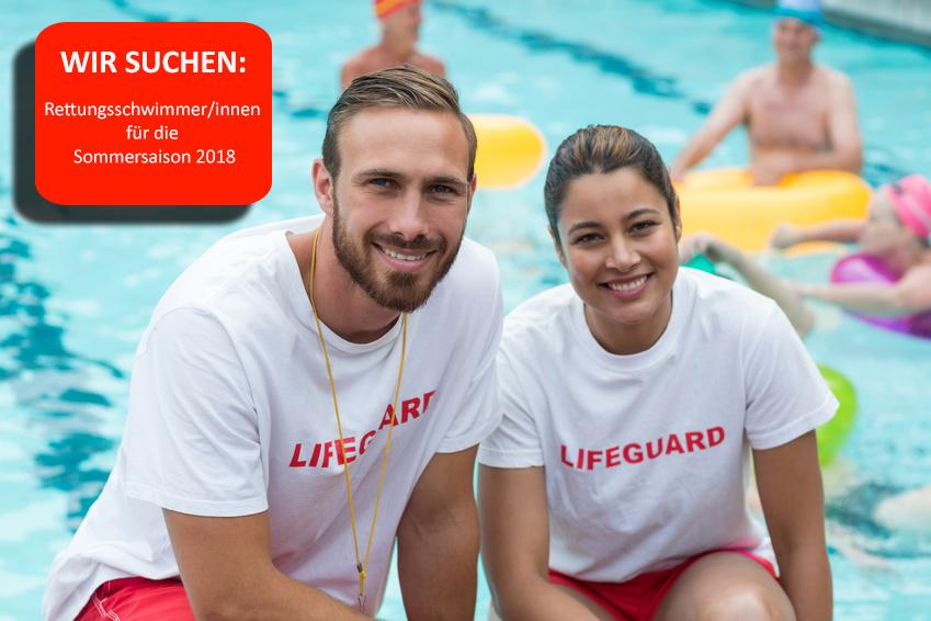 Wir suchen Rettungsschwimmer/innen für die Sommersaison 2018