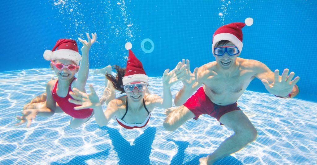 Schwimmen an Weihnachten